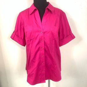 NWT CHICOS SUMMERBERRY OLIVIA NO IRON TOP SIZE 2